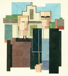 Adam Lister recreates everything from famous paintings to pop culture characters in a strange blend of 8-bit art and watercolor.