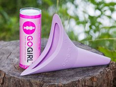 This female urine funnel, discovered by The Grommet, is made of medical-grade silicone funnel lets you pee standing up—without drips. Reusable and portable.