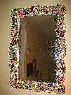 Vintage jewelry mosaic mirror | Flickr - Photo Sharing!