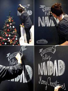 Pizarra de Navidad