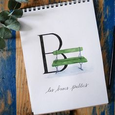 Deuxième semaine de notre abécédaire parisien en se reposant sur un petit banc public ~ Today a public Bench for the letter B of our Parisian alphabet ! #abc_calligraphique #parisabecedaire #abecedaire #aquarelle #watercolor #croquis #dessin #drawing #artofinstagram #illustration #illustrationoftheday #sketch #doodle #artwork #creative #alphabet #lettre #typo #capitalroman #igersParis #ParisJeTaime #ParisMaVille #Parisianlife #VieParisienne #visitParis #VilleDeParis #super_france… Bel Art, Hello France, Paris Ville, Drawing, Illustration, Artwork, Fake Calligraphy, Small Bench, Good Ideas