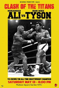 Muhammad Ali vs. Mike Tyson Fine Art Print Poster