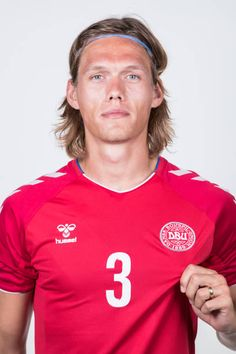 Jannik Vestergaard of Denmark poses during official FIFA World Cup 2018 portrait session on June 12 2018 in Anapa Russia Fifa World Cup 2018, National Football Teams, Garra, Football Kits, Poses, Sports Stars, Danish, Portugal, Polo Ralph Lauren