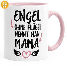Kaffee-Tasse mirt Spruch Engel ohne Flügel nennt man Mama glänzend Kaffeetasse Teetasse Keramiktasse MoonWorks® rosa unisize - Tassen mit Spruch | Lustige Kaffeebecher (*Partner-Link)