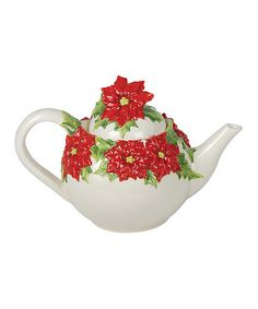 Take a look at this Poinsettia Teapot by Kaldun and Bogle on #zulily