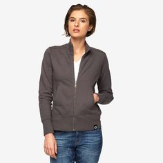 American Giant Classic Mock Neck Jacket-Black or Grey- Small