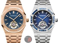 """Audemars Piguet returns to SIHH 2018 and unveils their new """"Royal Oak Tourbillon Extra-Thin Tapisserie Evolutive"""" with its new dial pattern. Audemars Piguet Watches, Audemars Piguet Royal Oak, Luxury Portfolio, Old Watches, Mechanical Watch, Casio Watch, Luxury Lifestyle, Luxury Cars, Luxury Homes"""