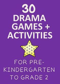 Enjoy this FREE collection of 30 Drama Games and Activities for Pre-Kindergarten to Grade 2. If you like this resource and are looking for more drama resources, please follow me. I will be uploading more drama resources to my new store regularly (I'm new to TpT).