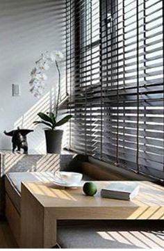 Modern Interior, Interior Styling, Interior Design, Bay Window Treatments, Resort Interior, Bench Furniture, Living Room Interior, Nook, Small Spaces