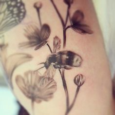 Beautiful bee by Mark Watson at RedINC tattoo