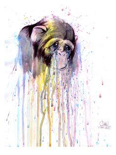 Monkey 4 Giclee Print by Lora Zombie at Art.com