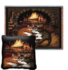 All Burned Out Tapestry Pillow and Throw Set - Buy at Snugglebug Pillows and Throws www.snugglebugpillowsandthrows.com