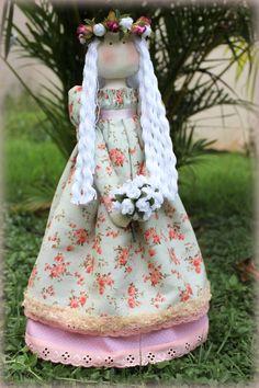 A primeira boneca feita por mim! Graças ao curso de Millyta Vergara!