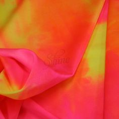 Neon Tie Dye Spandex Sunburst  $37.95 per meter