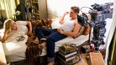 Kate Winslet + Leo Dicaprio while filming Revolutionary Road