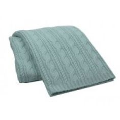 Blanket America - Buy 1 Give 1  Cable Knit Throw Aqua