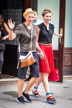 Ellen DeGeneres and her wife Portia de Rossi leaving a hotel holding hands Featuring: Ellen DeGeneres, Portia de Rossi Where: New York City, New York, United States When: 19 Jun 2014 Credit: WENN.com