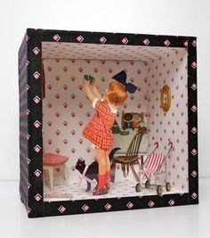 Oooh, love the idea of a collage in a box. Oh, the possibilities!
