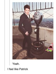 Adam Young. I made that exact face Patrick is making when I saw this. Except I love heights... So, yeah