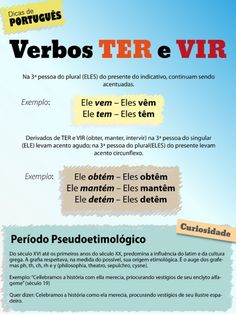 TER e VIR - acentuação