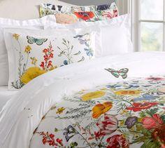 I need a king duvet and three euro shams thanksbye Flora Garden Duvet Cover & Sham | Pottery Barn
