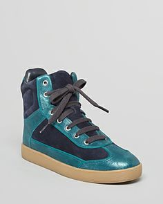Tory Burch Lace Up High Top Sneakers - Evelyn