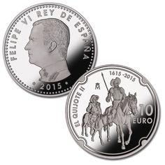 ESPAÑA: 10 euros plata 2015 proof EL QUIJOTE - IV Centenario segunda parte Spain