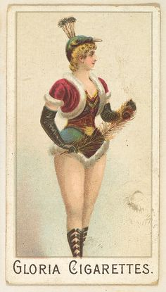 From the series Sports Girls, issued by the American Cigarette Company, 1889