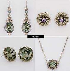Bridesmaid jewels, top and botton left Sorrelli Jewelry for Your Wedding Day