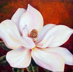 Explore Sanatçı Marianne, Artist Marianne Broome and more! Art Floral, Watercolor Flowers, Watercolor Paintings, Original Paintings, Art Diy, Acrylic Artwork, Inspiration Art, Magnolia Flower, Pictures To Paint