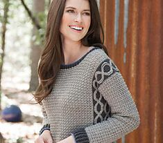 I love this crochet pattern Pop of Color Pullover. Cozy up with this easy-to-wear, color-block pullover. Side panels boast cables made from slipped stitches that are worked after the fact. Crochet Coat, Crochet Jacket, Crochet Blouse, Crochet Clothes, Crotchet Styles, Crochet Pullover Pattern, Unique Crochet, Crochet Designs, Knit Patterns