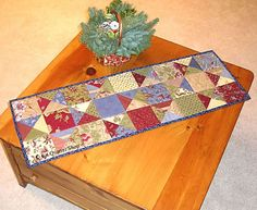 I'm learning to quilt, this shall be one of my projects: Gatherings Charm Squares Table Runner Pattern