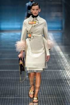 See Miuccia Prada's latest outing for the brand, just in from Milan.
