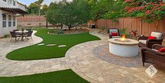 A backyard remodel should encompass elements that make your outdoor space the ideal retreat or oasis if you will. This remodel located in Southern California has elements designed and installed by System Pavers that include: full built-in bbq, energy efficient led lighting, custom paver patio and walkway, pergola with electrical hookups, pergola awning attached to home, built in gas fire pit, artificial turf, and drought tolerant landscaping. #pergolafirepit #trellisfirepit