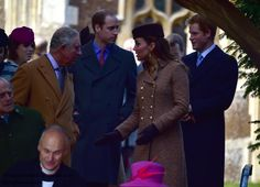 Duchess Kate: William and Kate Hold Hands for Christmas Day Service with the Royals and Middletons!