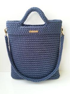 Bucket tote bag Handmade crochet handbag | Etsy