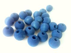 40 Hand Dyed Demin Beads 10mm Beads by 2MoonswithCharm on Etsy
