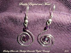 Silver Swirls Around Swarovski Amethyst by SimplyElegantandMore, $15.00