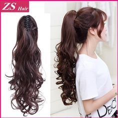 1pcs/lot Synthetic Ponytail Pony Tail Long Curly Claw In Ponytails Extension…