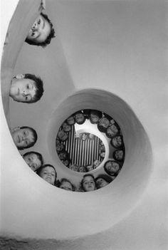 Martine Franck:   Library for children in France, 1965.