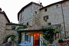 The tiny village of vertine, italy. We met a cute cat friend here and fed him ice cream :)