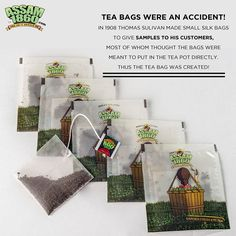 Some accidents are happy ones. Tea bags sure were! #TeaAsItShouldBe #TeaLove #GourmetTea #TeaFacts