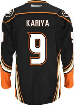 Anaheim Ducks VINTAGE Paul KARIYA #9 *C* Official Home Reebok Premier Replica NHL Hockey Jersey (HAND SEWN CUSTOMIZATION)