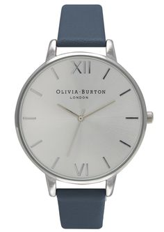 Olivia Burton BIG DIAL WATCH - NAVY & SILVER main image