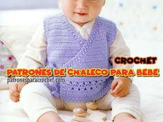 Patrones de Chaleco Crochet para Bebes Crochet Gratis, Crochet Baby, Knit Crochet, Patron Crochet, Irish Crochet, Crochet Flowers, Crochet Patterns, Knitting, Bags