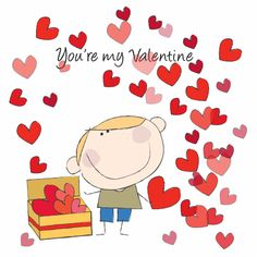 ♥Kaartje2go - Valentijnskaarten - you are my valentine 3