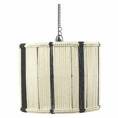 Hanglamp koorden wit zwart 50cm diameter