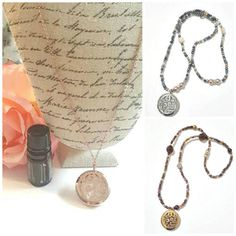 Beaded Aromatherapy Necklace Oil Diffuser