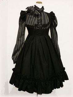 cute gothic lolita! like the stripes.