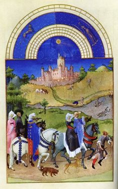 Procession of a lord and lady returning to their castle from Scottish Love ballads by Carolyn Emerick's The Archivist's Corner http://www.carolynemerick.com/2/post/2014/02/scottish-love-ballads.html